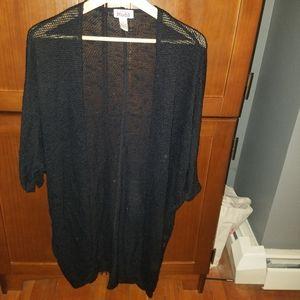 Black mud 3/4 sleeve sweater